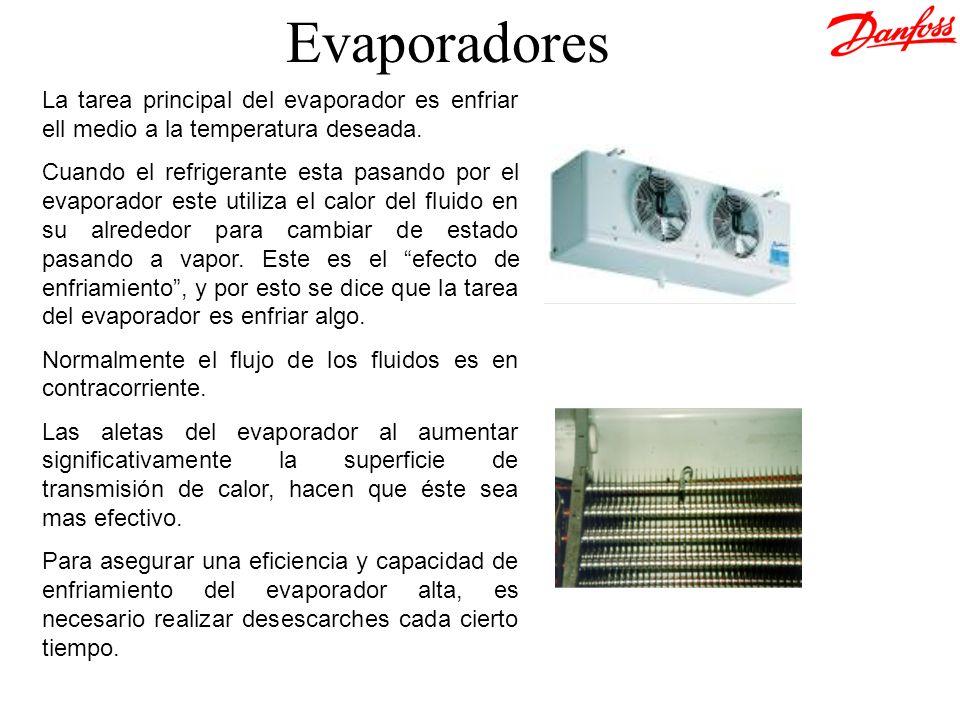 &[Archivo] Evaporadores. La tarea principal del evaporador es enfriar ell medio a la temperatura deseada.